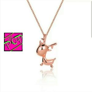 Jewelry - Rose Gold plated reindeer necklace